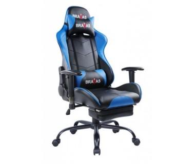Геймърският стол BRAVAS CH-Y0288A-1R Черно-Син
