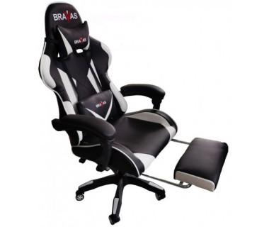 Геймърският стол BRAVAS OS-7911W Черно-Бял