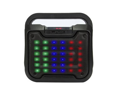 Мощна Bluetooth ударо и влагоустойчива диско колона с вход за микрофон и Цветомузика EXTRA-BASS B-18