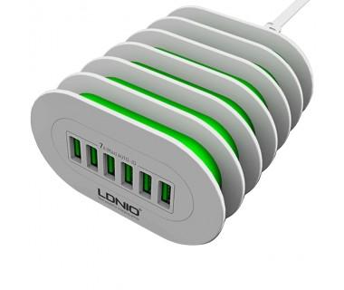 Универсално USB зарядно за 220V LDNIO A6702, 6 USB, 7A