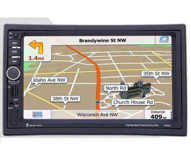 Универсален Двоен Дин с GPS,  Радио, MP3, MP4, USB, SD карта, Bluetooth 7021A BT GPS