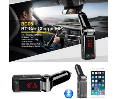 Автомобилен Bluetooth FM трансмитер с USB зарядно за GSM Bluetooth Car Charger