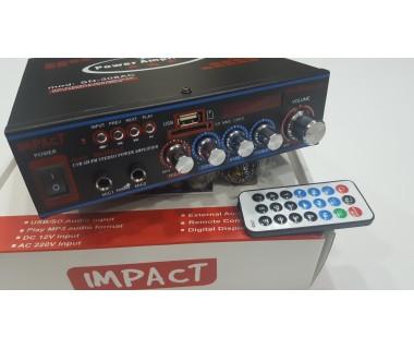 Караоке Усилвател за домашна употреба 2 x 60W Impact SN-308AC