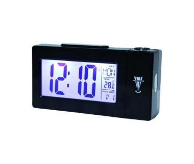Прожекционен часовник с термометър светещ Atima AT-618