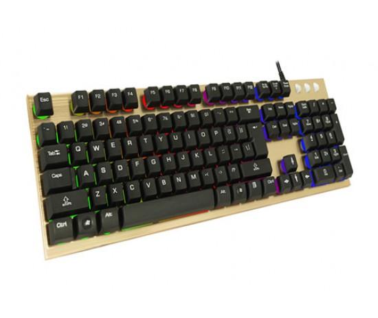 Геймърска клавиатура със светещи бутони Jedal Mechanical Feeling K910