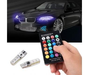 Цветни LED крушки за габарити с дистанционно