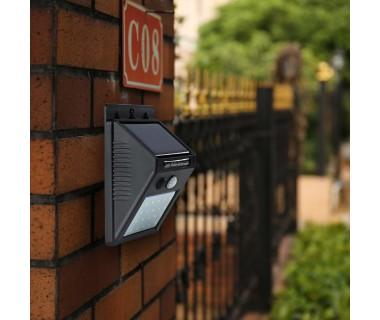 Градинска стенна LED лампа с 2 сензора LEd Wall Light LED20, Светлинен датчик, Датчик за движение