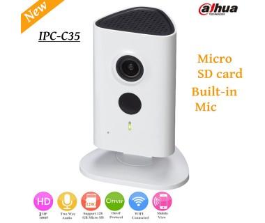 Компактна камера Dahua IPC-C35, Гледане през телефон, Звук, WiFi, Нощно виждане