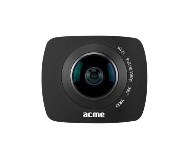Видеокамера Acme VR30, Full HD 360° camera, 0.96'' (2.43 cm) LCD дисплей, micro USB, Wi-Fi, microSD slot, черна
