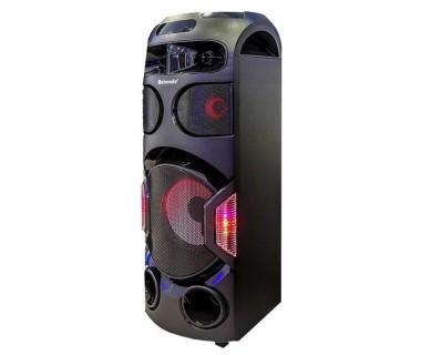 10 инчова тонколона Meirende MH-336 с вграден акумулатор, Bluetooth, МП3 плейър, безжични микрофони 2 бр. за караоке