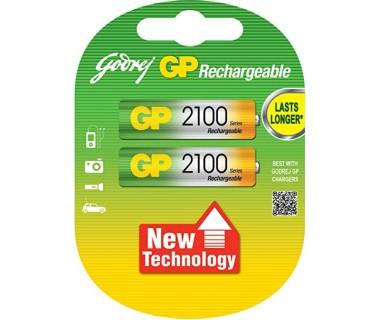 Акумулаторни Батерии GP AA 2100mAh - 2 броя