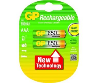 Акумулаторни Батерии GP ААА 850mAh - 2 броя