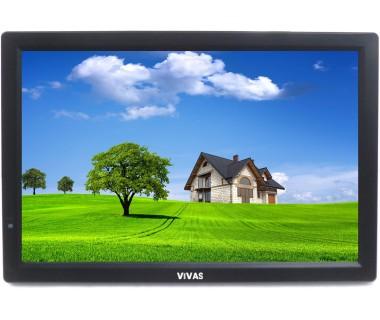 "12"" портативен телевизор Vivas TV12, 12 инча, 12/220V, Цифров тунер DVB-T2, Мултимедия, Акумулаторна батерия"