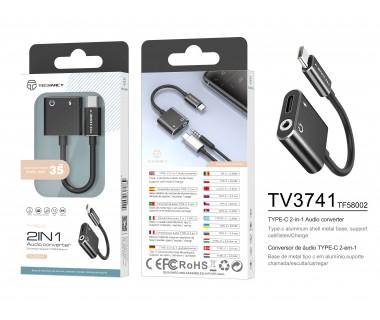 Преходник USB Type C към 3.5 мм Techancy TV3741