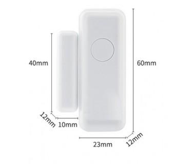 Безжичен магнитен датчик за алармена система за врата/прозорец (433mHz)