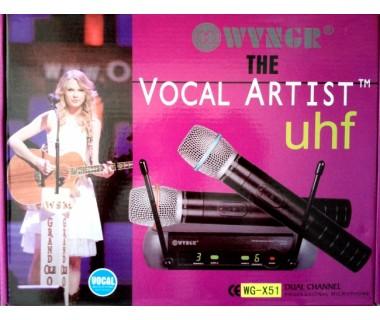 Комплект професионални безжични микрофони Weisre PGX-51