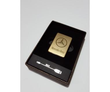 Електронна USB запалка за цигари без пламък с лого - Mercedes, BMW, Jack Daniels