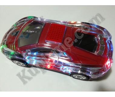 Портативна музикална Hi - Fi стерео колонка - буфер кола Usb Sd Card Ferrari светещо