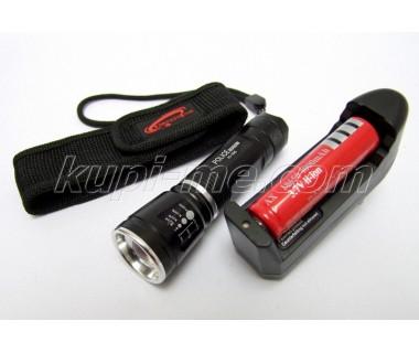 Мощен акумулаторен прожектор(фенер) с CREE LED диод 8000W H-105
