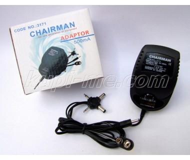 Адаптер Chairman 3171 220V-3-4,5-6-7,5-9-12V 0.5A