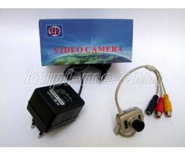 Малка цветна камера за видеонаблюдение с вграден микрофон