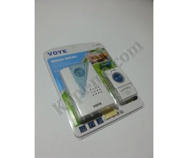 Безжичен звънец за врата на батерии Voye
