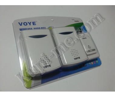 Безжичен звънец за врата на батерии Voye Два звънеца Един бутон