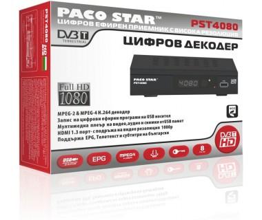 Цифров ефирен HD приемник DVB-T Full HD PACOSTAR PST4080