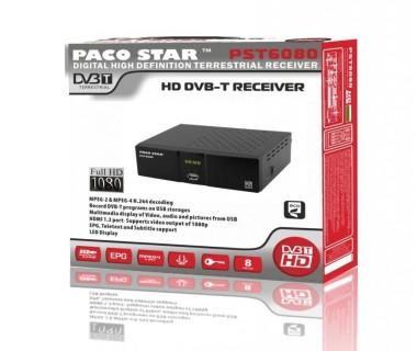Цифров ефирен HD приемник DVB-T Full HD PACOSTAR PST6080