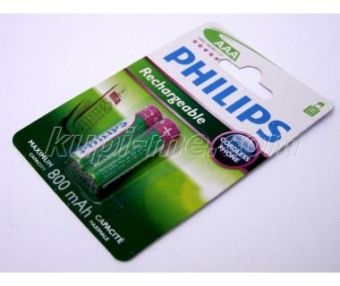 Акумулаторни Батерии Philips AAA 800 ma - 2 броя на блистер
