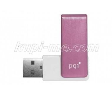 Флаш памет 8Gb USB PQI модел U262- розово-бяло